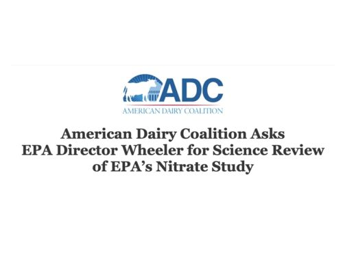 National dairy group calls on EPA to review the flawed nitrate report
